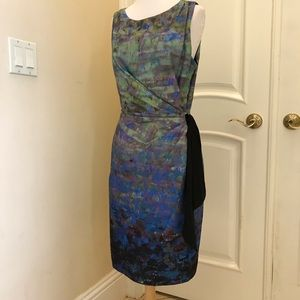 NWOT Suzi Chin for Maggie Boutique side tie dress